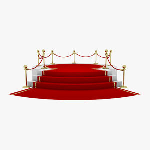 3D award stand red carpet model