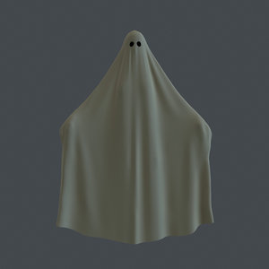 rigged floating ghost 3D model
