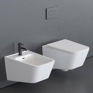 equal toilet wall-hung bidet 3D