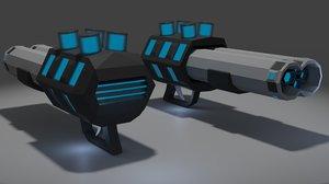 shotgun low-poly gun model