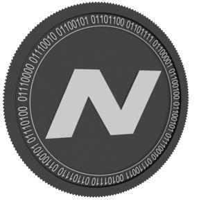 3D navcoin black coin model