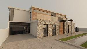 stone house homes 3D model