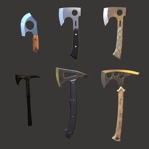 3D model axes pack