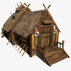 medieval viking house 3D model