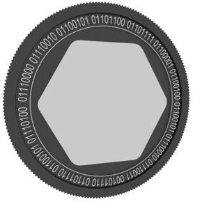 3D nimid black coin