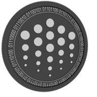 3D ocean black coin