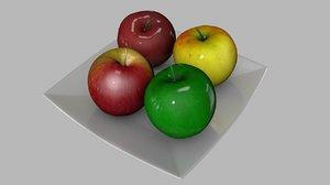 3D apples plate model