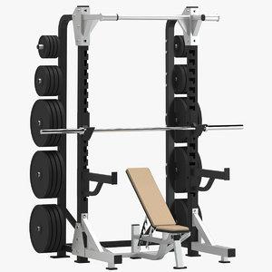 3D gym half rack model