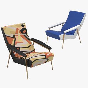 gio ponti armchair 3D model