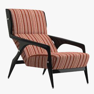 gio ponti chair 2 3D model