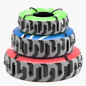 3D model gym equipment tire