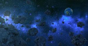 3D asteroid galaxy model