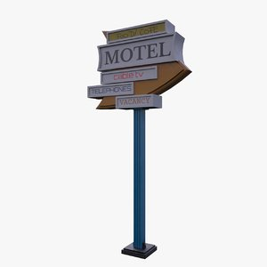 3D old sign
