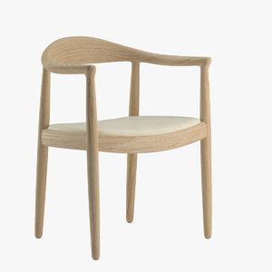 hans wegner chair 3D model
