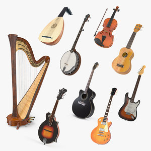 3D stringed instruments 4 model
