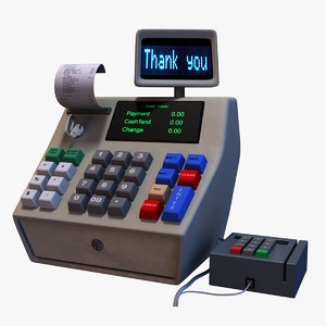 cartoon cash register 3D