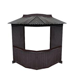 3D model balcony metais 01 51