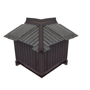 3D model balcony metais 01 61