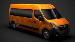 3D opel movano l3h2 minibus model