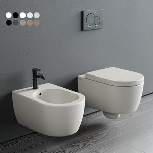 smile wall-hung toilet bidet 3D model