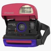 realistic polaroid film camera 3D model