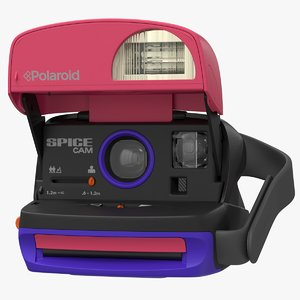 realistic polaroid film camera 3D model