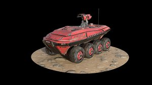 stylized armoured carrier 3D model