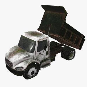 3D abandoned truck car