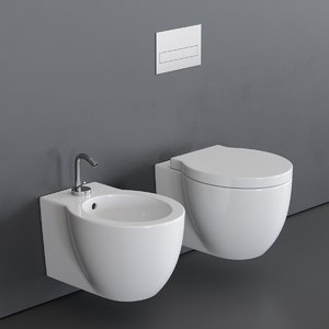 easy evo toilet wall-hung 3D