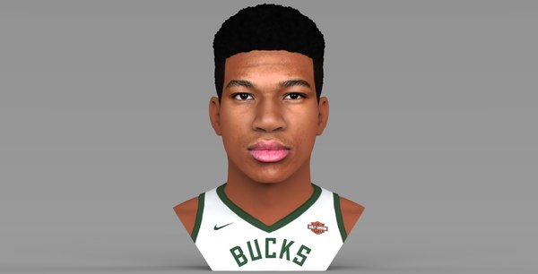 3D model giannis antetokounmpo bust color