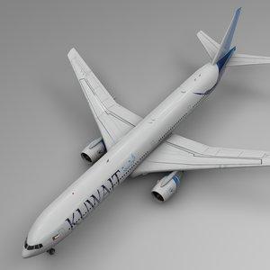 3D model kuwait airways boeing 777-300er