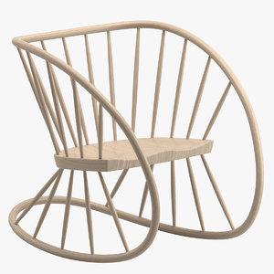 3D heal s rocking chair