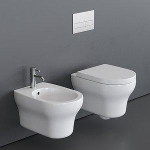 3D model jo toilet wall-hung bidet