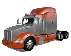 3D 386 semi truck