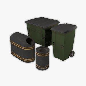 street garbage boxes model