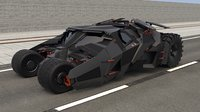 3D bat batmobile tumbler model