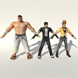 3D king fighter team japan model