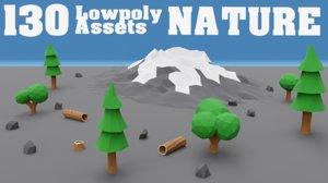 3D nature assets model