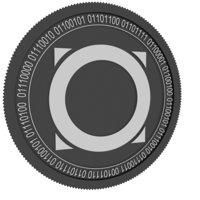 omni black coin 3D