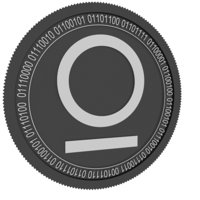omnitude black coin 3D