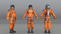 astronaut orange 3D model