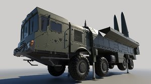 iskander ss-26 stone ballistic 3D model
