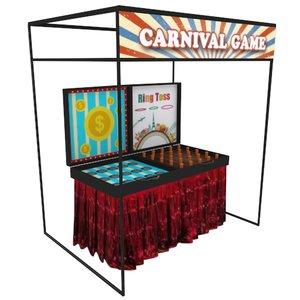 carnival fringe activity stall 3D