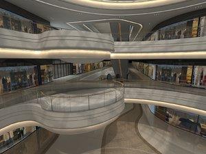 hallway stores 3D model