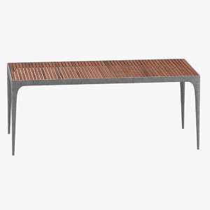 henry hall rectangular dining table 3D