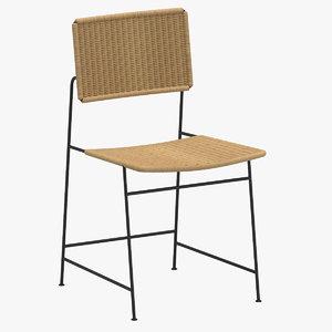 herta maria witzemann rattan chair 3D