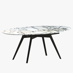 ico parisi dining table 3D model
