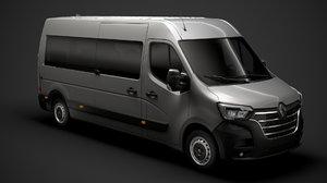 3D renault master l3h2 minibus