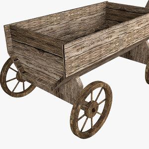 3D wooden cart