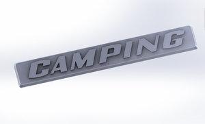 camping badge caravan camper 3D